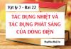 Tác dụng nhiệt và tác dụng phát sáng của dòng điện và Bài tập - Vật lý 7 bài 22